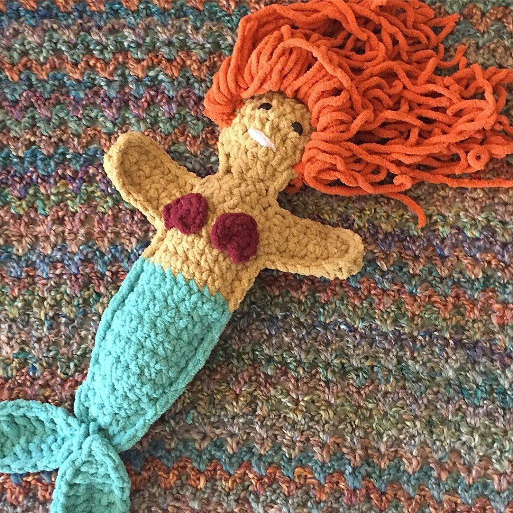 Sneaky Peaky of Mermaid Rag Doll I made last weekhellip