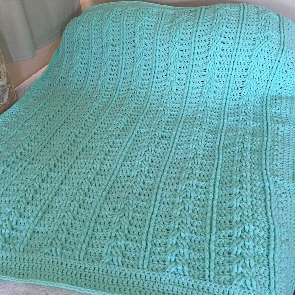 Finally finished this Crocheted Braided Cable Blanket its been ahellip