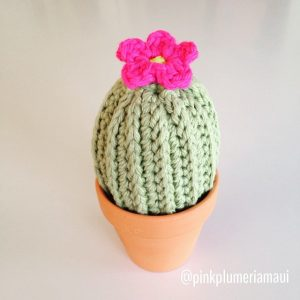 Crochet Cactus in a Pot with Flower
