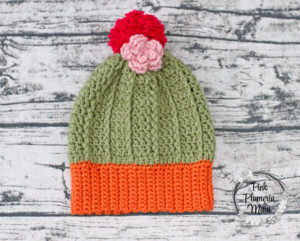 Adult Crocheted Cactus Beanie
