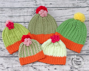 Crocheted Cacti Beanies