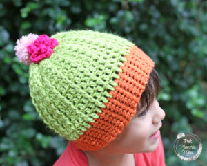 Toddler Crocheted Cactus Beanie