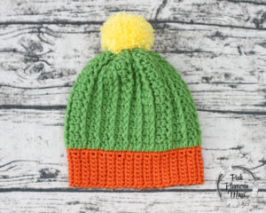 Youth Crocheted Cactus Beanie Pattern