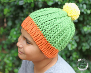 Youth Crocheted Cactus Beanie