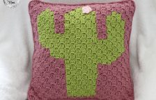 C2C Crochet Cactus Pillow Pattern