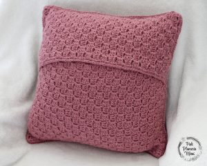 C2C Crocheted Cactus Back Pillow