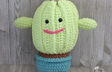 Primrose is a fun and cuddly crocheted plushy cactus.