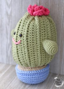 Rosie Plushy Cactus Side View