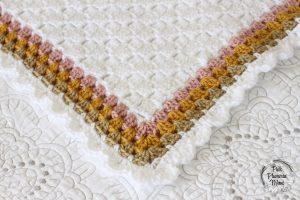 Crochet C2C Cactus Baby Blanket Border
