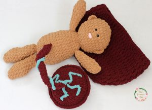 Together Crocheted Baby, Placenta and womb.