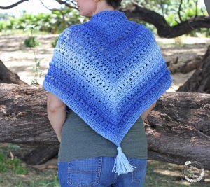 Crocheted Boho Shawl 2