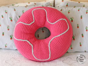 XL Crocheted Donut Pillow