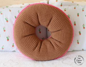 Back XL Crocheted Donut Pillow