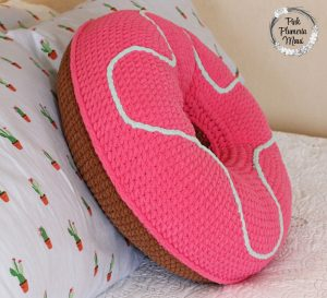 Side XL Crocheted Donut Pillow