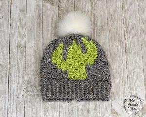 C2C Crocheted Cactus Beanie Pattern