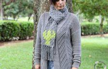 C2C Crocheted Cactus Scarf