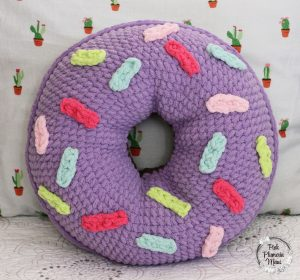 Donut Pillow in Purple