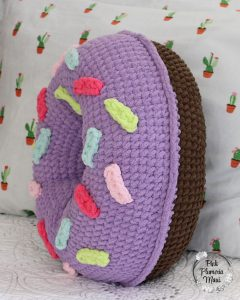 Crocheted Donut Pillow SideCrocheted Donut Pillow Side