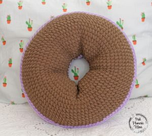 Back Crocheted Donut Pillow