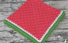 Crocheted Watermelon C2C Baby Blanket