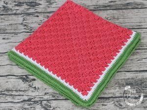 Crocheted Watermelon C2C Baby Blanket