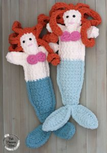Crocheted Mermaid Rag Doll 5