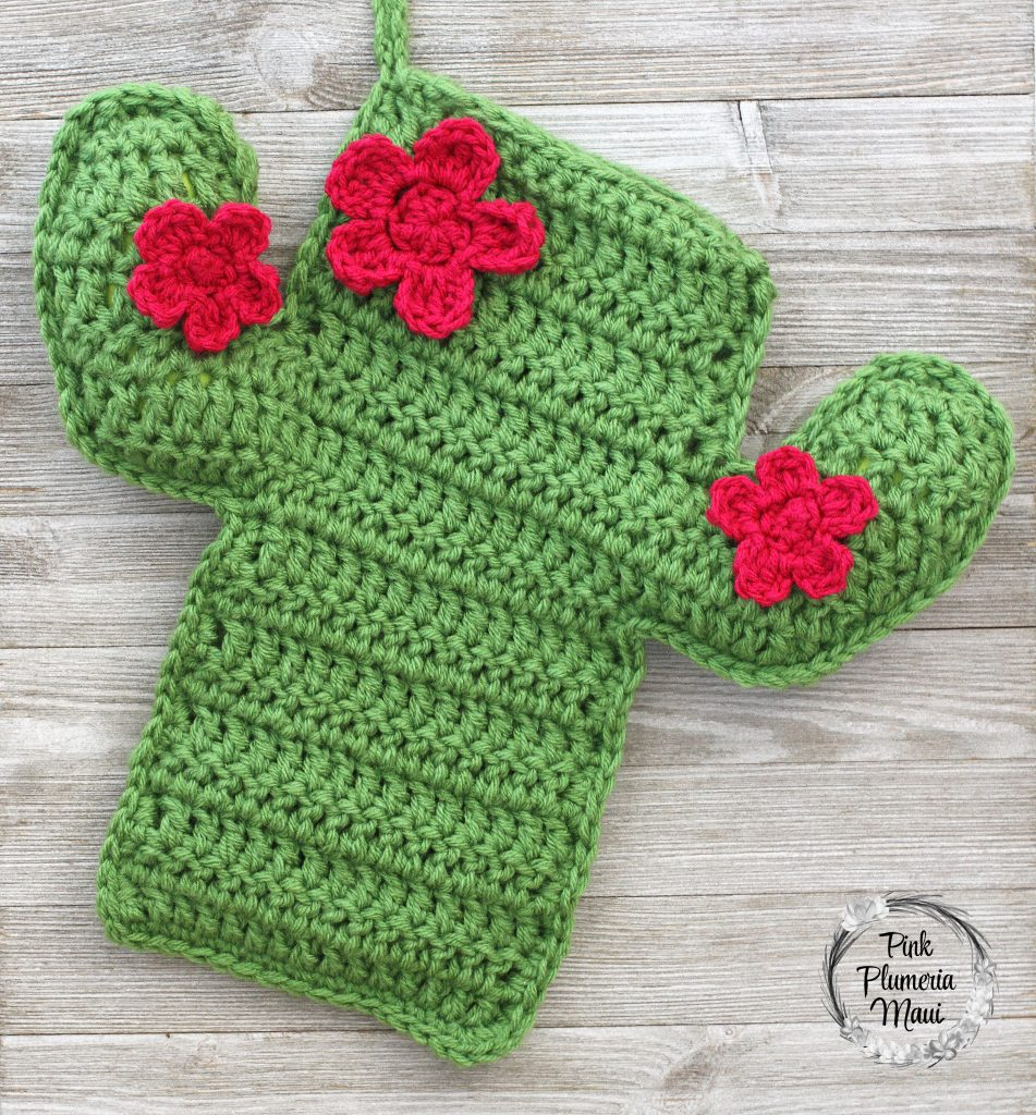 Crocheted Cactus Stocking 4