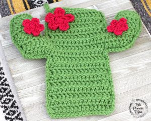Crocheted Cactus Stocking 3