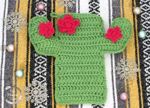 Crocheted Cactus Stocking 1