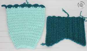 Crocheted Mermaid Tail Stocking 2