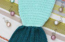 Crocheted Mermaid Tail Stocking 3