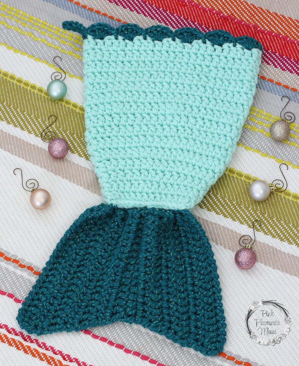 Crocheted Mermaid Tail Stocking 3