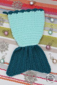 Crocheted Mermaid Tail Stocking 1