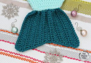 Crocheted Mermaid Stocking Fin
