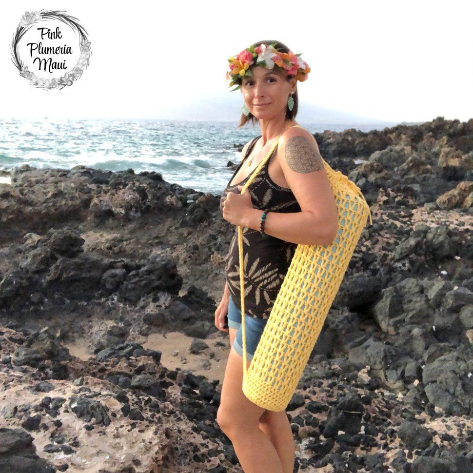 Crocheted Ulana Yoga Bag